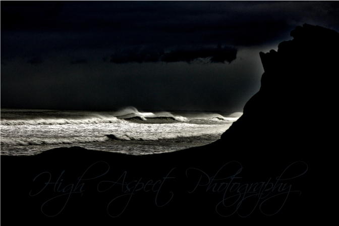 Storm Surfer on the Pacific